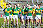 The Kerry team stand to attention before their Allianz National Football League clash against Galwey in Killarney last Sunday