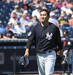 Masahiro Tanaka (Yankees),<br /> FEBRUARY 28, 2017 - MLB :<br /> New York Yankees starting pitcher Masahiro Tanaka walks back to the dugout after the top of the second inning during a spring training baseball game against the Detroit Tigers at George M. Steinbrenner Field in Tampa, Florida, United States. (Photo by AFLO)