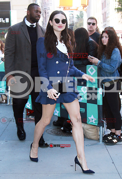 NEW YORK, NY - OCTOBER 18: Crystal Reed at AOL's Build Series to talk about new of Gotham in New York October 18, 2017. Credit: RW/MediaPunch /NortePhoto.com