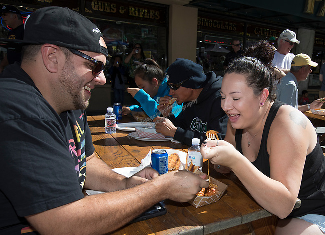 Mike Brister and Ashley Valenzano during the Italian Festival in downtown Reno on Saturday, Oct. 7, 2017.