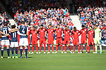 England's and Scotland's players pay their respects during the FIFA World Cup Qualifying match at Hampden Park Stadium, Glasgow Picture date 10th June 2017. Picture credit should read: David Klein/Sportimage