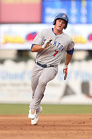 Matt Chapman (7) of the Stockton Ports runs the bases during a game against the Inland Empire 66ers at San Manuel Stadium on June 28, 2015 in San Bernardino, California. Stockton defeated Inland Empire, 4-1. (Larry Goren/Four Seam Images)