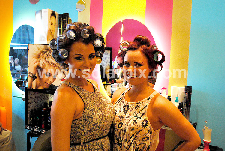 **ALL ROUND EXCLUSIVE PICTURES FROM SOLARPIX.COM**                                             **WORLDWIDE SYNDICATION RIGHTS**                                                                                  Caption: Towie James Argent & Jessica Wright visit a local beauty salon called golden Tarts in Marbella to get some last minute pampering after their week of boot camp gruelling training .The TOWIE star, who's become known for carrying more than a few extra pounds, is competing in the 26-mile race to raise money for Cancer Research UK. .Arge had his nails done & eyebrows threaded whilst Jessica had her hair styled and a spray tan.                                                                         This pic:   Jessica Wright & cousin                                                                                           JOB REF: 14572       CMK      DATE: 15.03.2012                                                           **MUST CREDIT SOLARPIX.COM OR DOUBLE FEE WILL BE CHARGED**                                                                      **MUST AGREE FEE BEFORE ONLINE USAGE**                               **CALL US ON: +34 952 811 768 or LOW RATE FROM UK 0844 617 7637**