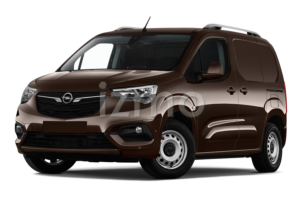 Stock pictures of low aggressive front three quarter view of a 2019 Opel Combo Dynamic 4 Door Car van