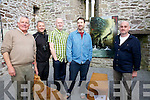 Pictured here at an exhibition of work by artist Donagh Carrey on the Right were l-r; Tim O'Connell, Patrick McDaid, Alan O'Sullivan & Joseph Keating.  This was on of the many artist installation on view all over Ballinskelligs during the weekend celebrating Cill Rialaig's 21 years.