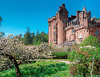 BNPS.co.uk (01202 558833)<br /> Pic: BellIngram/BNPS<br /> <br /> View across to Risga.<br /> <br /> A magnificient Scottish castle which comes with its own two islands is on the market for £3.75million.<br /> <br /> Glenborrodale Castle is situated on the southern shore of the picturesque Ardnamurchan Peninsula in the remote Highlands. <br /> <br /> The baronial mansion dates from 1902 and is built from distinctive red Dumfriesshire sandstone.<br /> <br /> It boasts 133 acres of land taking in the idyllic uninhabited isles of Risga and Eileam an Feidh.<br /> <br /> The larger of the two, Risga, spans 30 acres and is in the centre of Loch Sunart, 800 yards from the north shore