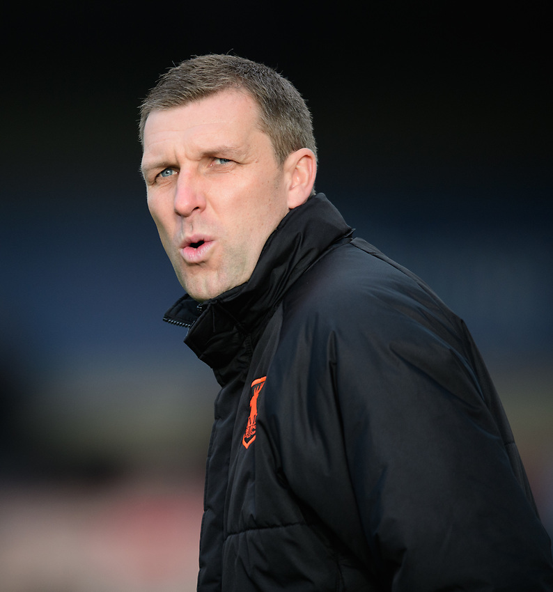 Mansfield Town's assistant manager Ben Futcher during the pre-match warm-up<br /> <br /> Photographer Chris Vaughan/CameraSport<br /> <br /> The EFL Sky Bet League Two - Lincoln City v Mansfield Town - Saturday 24th November 2018 - Sincil Bank - Lincoln<br /> <br /> World Copyright © 2018 CameraSport. All rights reserved. 43 Linden Ave. Countesthorpe. Leicester. England. LE8 5PG - Tel: +44 (0) 116 277 4147 - admin@camerasport.com - www.camerasport.com