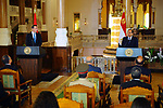 Egyptian President Abdel Fattah al-Sisi and Austrian Chancellor Christian Kern hold a joint press conerence in Cairo, Egypt, on May 24, 2017. Photo by Egyptian President Office