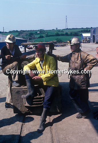 Tin Mining Cornwall Cornish Miners Wheal Jane mine 1970s England
