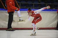 SCHAATSEN: HEERENVEEN: 16-01-2014, IJsstadion Thialf, Training/Olympische Perslunch Team Corendon, ©foto Martin de Jong