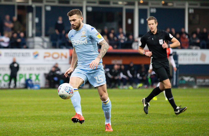 Leeds United's Stuart Dallas<br /> <br /> Photographer Alex Dodd/CameraSport<br /> <br /> The EFL Sky Bet Championship - 191123 Luton Town v Leeds United - Saturday 23rd November 2019 - Kenilworth Road - Luton<br /> <br /> World Copyright © 2019 CameraSport. All rights reserved. 43 Linden Ave. Countesthorpe. Leicester. England. LE8 5PG - Tel: +44 (0) 116 277 4147 - admin@camerasport.com - www.camerasport.com