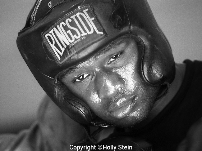 James Toney training at Outlaw Gym in Los Angeles.