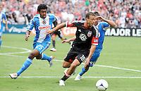 D.C. United midfielder Nick DeLeon (18) D.C. United tied The Philadelphia Union 1-1 at RFK Stadium, Saturday August 19, 2012.
