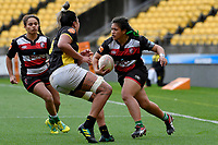 Grace Gago of Counties Manukau in action during the Farah Palmer Cup - Wellington Pride v Counties Heat at Westpac Stadium, Wellington, New Zealand on Sunday 15 September 2019. <br /> Photo by Masanori Udagawa <br /> www.photowellington.photoshelter.com