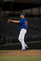 AZL Cubs 1 starting pitcher Peyton Remy (54) during an Arizona League game against the AZL Cubs 1 at Sloan Park on June 28, 2018 in Mesa, Arizona. The AZL Athletics defeated the AZL Cubs 1 5-4. (Zachary Lucy/Four Seam Images)