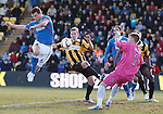 Lee McCulloch's shot saved by keeper Greg Paterson