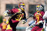 Los Angeles, CA 02/20/10 - John Ludwig (USC # 31) in action during the USC-Loyola Marymount University MCLA/SLC divisional game at Leavey Field (LMU).  LMU defeated USC 10-7.
