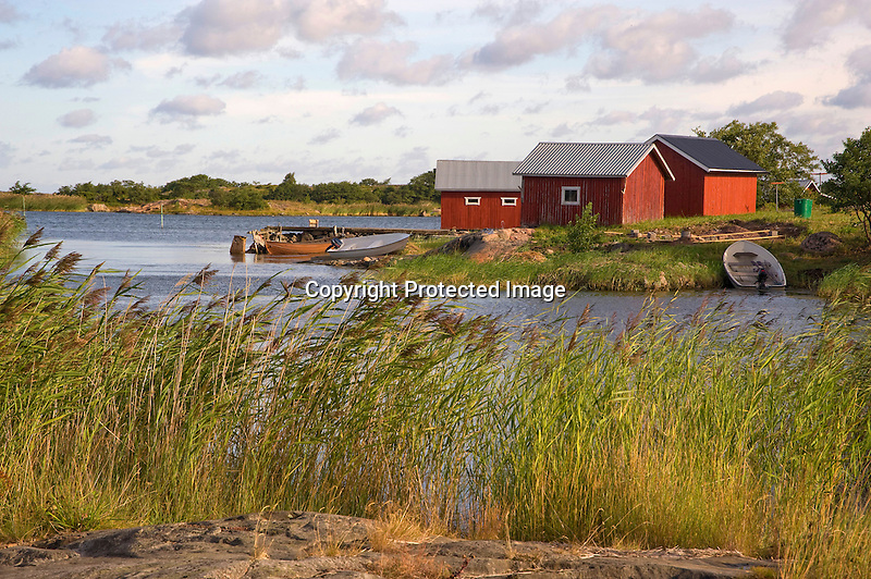 Morning Light on a Quiet Cove on the Island of Kökar in Åland