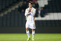 George Williams of MK Dons applauds the fans after MK Dons vs Macclesfield Town, Sky Bet EFL League 2 Football at stadium:mk on 17th November 2018