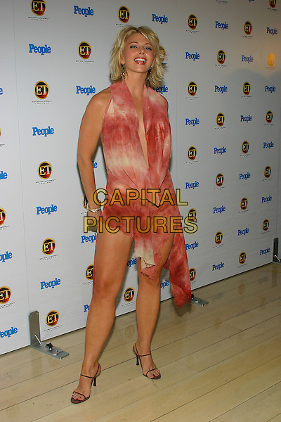 TAMI SHEFFIELD.The Entertainment Tonight Emmy Party Sponsored by People Magazine held at The Mondrian. .full length, plunging neckline, tie dye pink dress, fashion disaster.www.capitalpictures.com.sales@capitalpictures.com.© Capital Pictures.