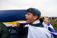 Cypriot scouts going to the opening ceremony. Photo: Magnus Fröderberg/Scouterna
