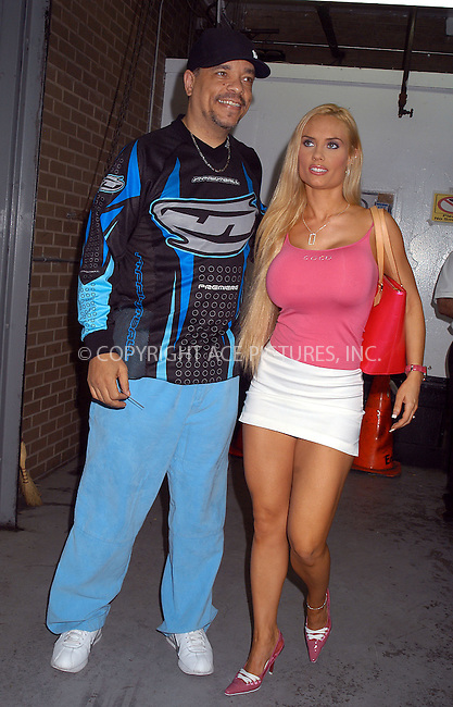 Ice-T and girlfriend Coco spotted going to a movie theater. New York, September 7, 2003. Please byline: NY Photo Press.   ..*PAY-PER-USE*      ....NY Photo Press:  ..phone (646) 267-6913;   ..e-mail: info@nyphotopress.com