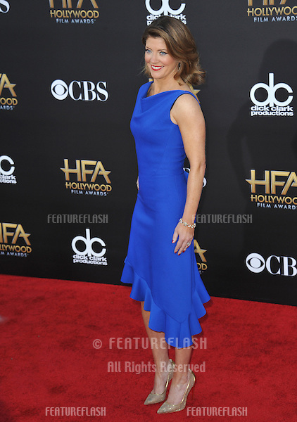 Norah O'Donnell at the 2014 Hollywood Film Awards at the Hollywood Palladium.<br /> November 14, 2014  Los Angeles, CA<br /> Picture: Paul Smith / Featureflash