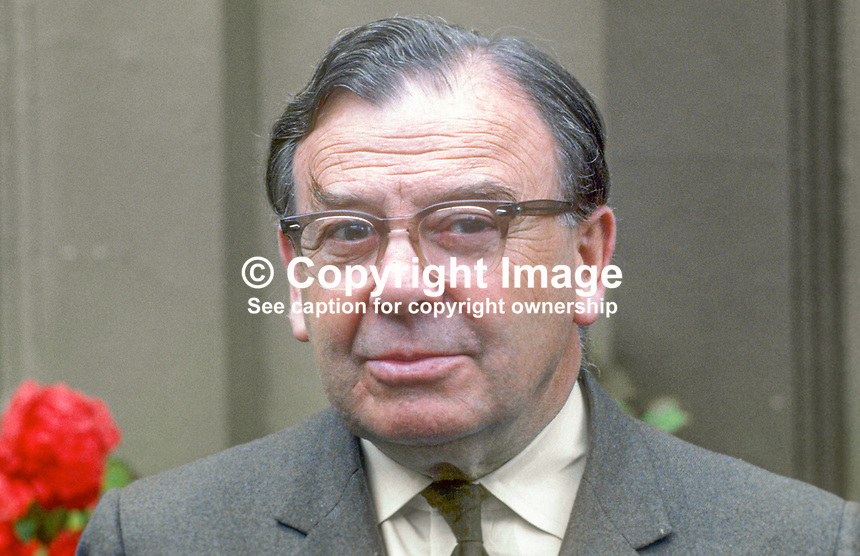 Sir Ian Fraser, first chairman, N Ireland Police Authority, which was constituted July 1970. He won a wartime DSO and was involved in the early field trials of penicillin using it with war casualties in the forward area of conflict in North Africa. July 1970. 197007000266c<br />