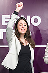 Irene Montero, number two of Unidas Podemos to the Congress by Madrid; Sofía Castañón, secretary of Intersectional Feminisms and LGTBI of Podemos and candidate of Unidas Podemos Congress for Asturies; Isa Serra, spokesperson for Unidas Podemos in the Madrid Assembly, and Mª Eugenia R. Palop, MEP of Undas Podemos, participate in the event 'Feminist dialogue with social groups', together with organizations working on precariousness, care and dependence<br /> October 30, 2019. <br /> (ALTERPHOTOS/David Jar)