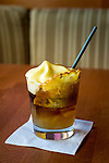 The signature Mai Tai with Passionfruit Foam at Monkeypod Kitchen, a restaurant in Wailea, Maui, Hawaii, USA