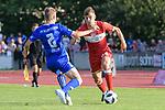 18.07.2018, Voehlinstadion, Illertissen, GER, FSP, FV Illertissen - VfB Stuttgart, im Bild Max Zeller (Illertissen, #2), Borna Sosa (Stuttgart, #24)<br /> <br /> Foto &copy; nordphoto / Hafner