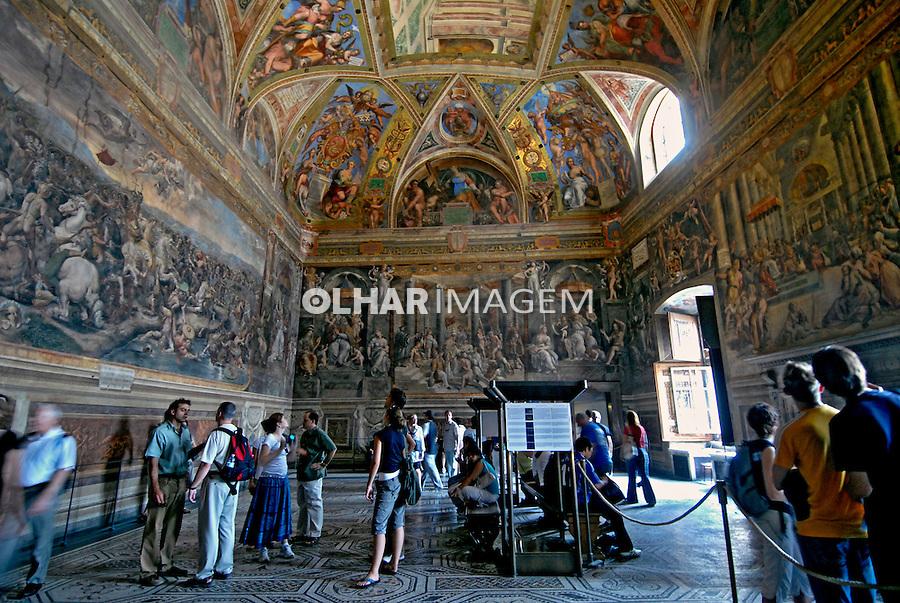Sala de Rafael no Museus do Vaticano. Roma. Itália. 2006. Foto de Luciana Whitaker.