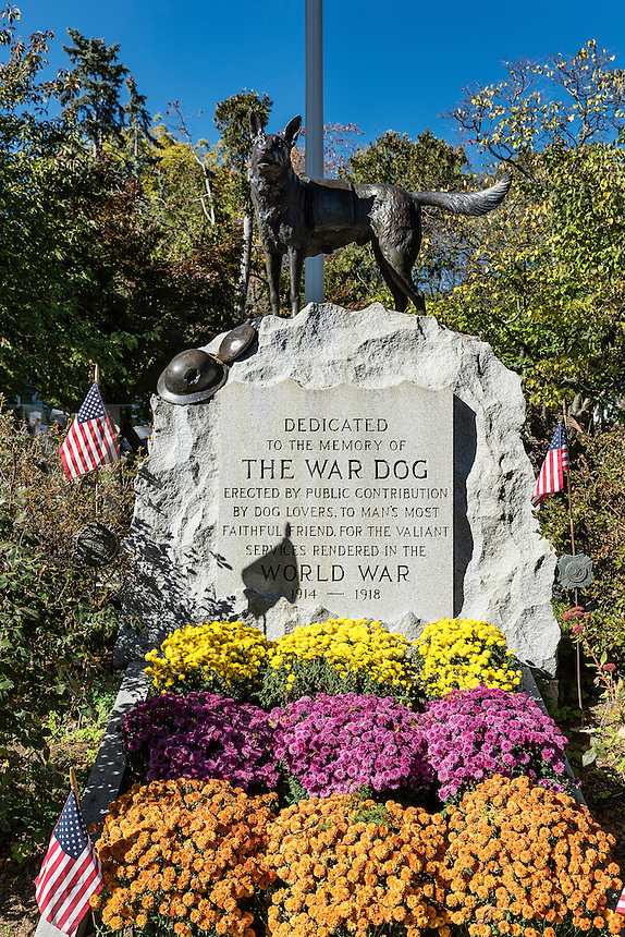 War Dog Memorial, Hartsdale Pet Cemetery, Hartsdale, New York, USA