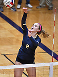 Althof player Karinna Gall hits the ball over. Althoff lost to Minooka in the championship game of the O'Fallon Class 4A volleyball sectional at O'Fallon HS in O'Fallon, IL on November 6, 2019.<br /> Tim Vizer/Special to STLhighschoolsports.com