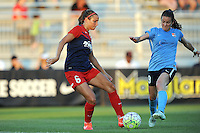 Boyds, MD - Saturday June 25, 2016: Shelina Zadorsky, Kelley O'Hara during a United States National Women's Soccer League (NWSL) match between the Washington Spirit and Sky Blue FC at Maureen Hendricks Field, Maryland SoccerPlex.