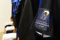 A general view of Champions Cup branding on a Bath Rugby jersey. European Rugby Champions Cup match, between RC Toulon and Bath Rugby on December 9, 2017 at the Stade Mayol in Toulon, France. Photo by: Patrick Khachfe / Onside Images