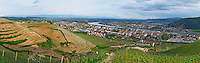 vineyard view over town tain l hermitage rhone france