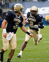 30 September 2006: Pitt wide receiver Dorin Dickerson (2) scores on a 14-yard touchdown run.  The Pitt Panthers defeated the Toledo Rockets 45-3 on September 30, 2006 at Heinz Field, Pittsburgh, Pennsylvania.
