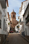 Historic church in village of Galaroza, Sierra de Aracena, Huelva province, Spain