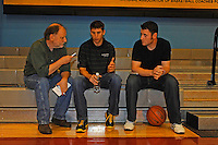 30 September, 2010, Kansas City, Kansas USA.Denny Hamlin in interviewed by local media at The College Basketball Experience..©2010, F. Peirce Williams, USA.