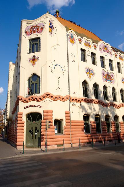 The 1902 Art Nouveau (Sezession) Cifra Palota (Cifra Palace) with Zolnay tiles, Hungary Kecskemét