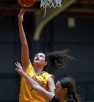 Action from the 2019 Schick A Girls' Secondary Schools Basketball Premiership National Championship match between Te Aroha College and Nga Taiatea Wharekura at the Central Energy Trust Arena in Palmerston North, New Zealand on Monday, 30 September 2019. Photo: Dave Lintott / lintottphoto.co.nz