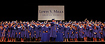 Torrington, CT 062117MK12 Class president Kevin Kryzwick leads 188 fellow classmates in turing of their tassels during the Lewis Mills High School commencement exercises at the Warner Theatre in Torrington on Wednesday night. Michael Kabelka / Republican-American