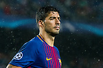 Luis Alberto Suarez Diaz of FC Barcelona reacts during the UEFA Champions League 2017-18 match between FC Barcelona and Olympiacos FC at Camp Nou on 18 October 2017 in Barcelona, Spain. Photo by Vicens Gimenez / Power Sport Images