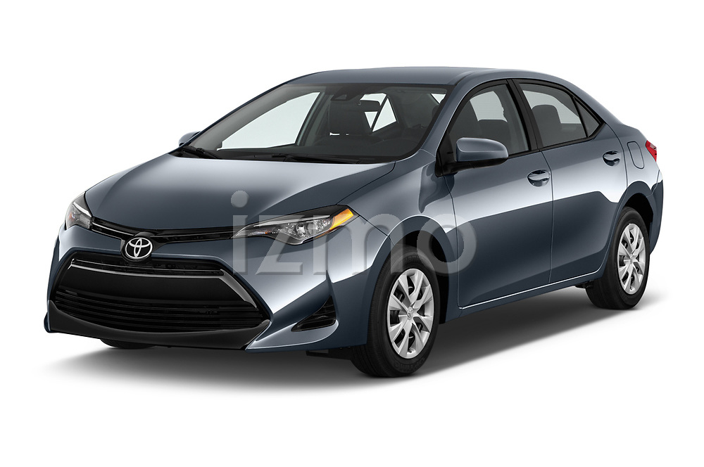 2017 Toyota Corolla L 4 Door Sedan angular front stock photos of front three quarter view