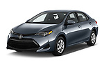2018 Toyota Corolla L 4 Door Sedan angular front stock photos of front three quarter view