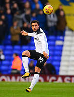 George Thorne of Derby during the Sky Bet Championship match between Birmingham City and Derby County at St Andrews, Birmingham, England on 13 January 2018. Photo by Bradley Collyer / PRiME Media Images.