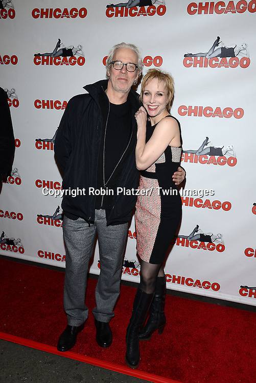 "Terence Mann and wife Charlotte D' Amboise attends ""Chicago""  becoming the 2nd Longest Running Show on Broadway at performance 7486 on November 23, 2014 at the Ambassodor Theatre in New York City."