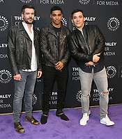 """19 November 2019 - Beverly Hills, California - Charlie Weber, Rome Flynn, Conrad Ricamora. The Paley Center Celebrates The Final Season Of """"How To Get Away With Murder""""<br />  held at The Paley Center for Media. Photo Credit: Birdie Thompson/AdMedia"""