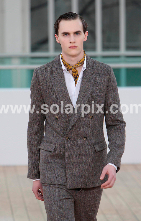**ALL ROUND PICTURES FROM SOLARPIX.COM** **NO UK NEWSPAPER PUBLICATION**.**UK MAGAZINE & SUPPLEMENT PUBLICATION ONLY** AND NO PUBLICATION IN AUSTRALIA, BELGIUM, FRANCE, GERMANY, ITALY, SCANDINAVIA AND USA** Caption: The Topman catwalk show at London Fashion Week, London, UK. 22 February 2011 This pic: Topman catwalk show JOB REF: 12881 SFE DATE: 23_02_2011 **MUST CREDIT SOLARPIX.COM OR DOUBLE FEE WILL BE CHARGED** **MUST AGREE FEE BEFORE ONLINE USAGE** **CALL US ON: +34 952 811 768 or LOW RATE FROM UK 0844 617 7637**